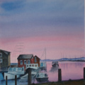 Rosen Nancy Image2 Menemsha-sunset 12x16 watercolor